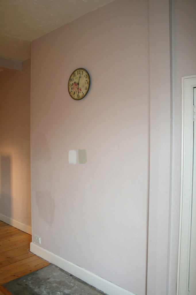 Chimney breast of Edinburgh flat before the fireplace was reinstated