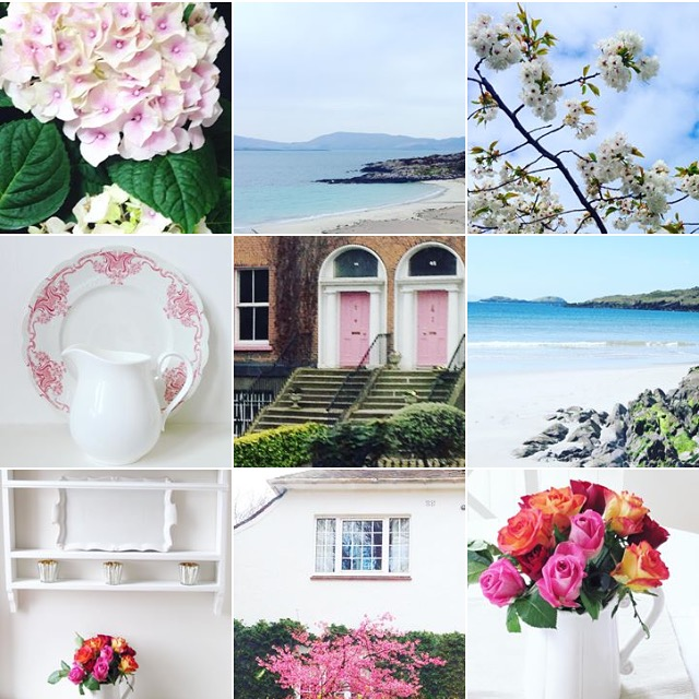 Summer house style montage by Louise Keane of Amalfi White Living
