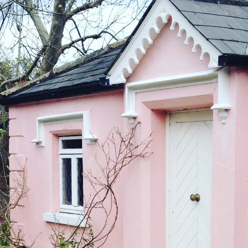 Pretty pink gatehouse in Dublin photographed by Louise Keane of Amalfi White Living
