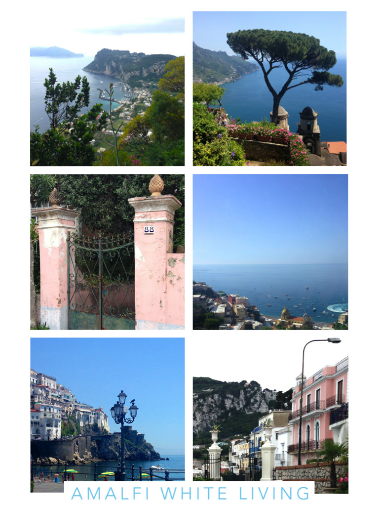 Views of the beautiful Amalfi Coast in Italy taken by Amalfi White Living