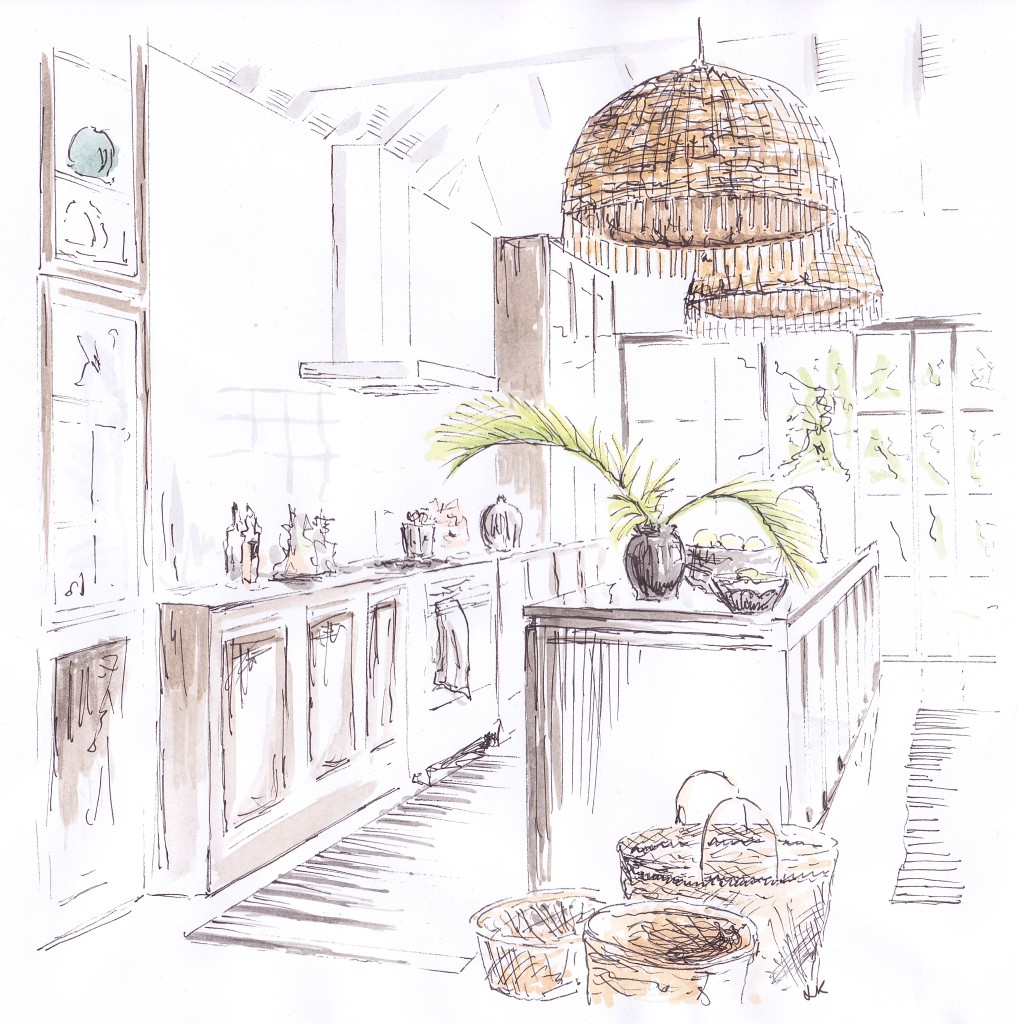 Marianne Brandi's beautiful tropical St Barts kitchen